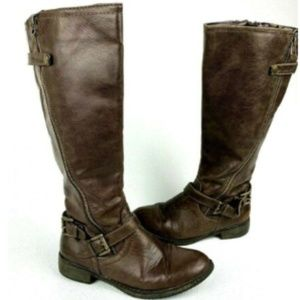 Mossimo Brown Knee High Equestrian Riding Boots